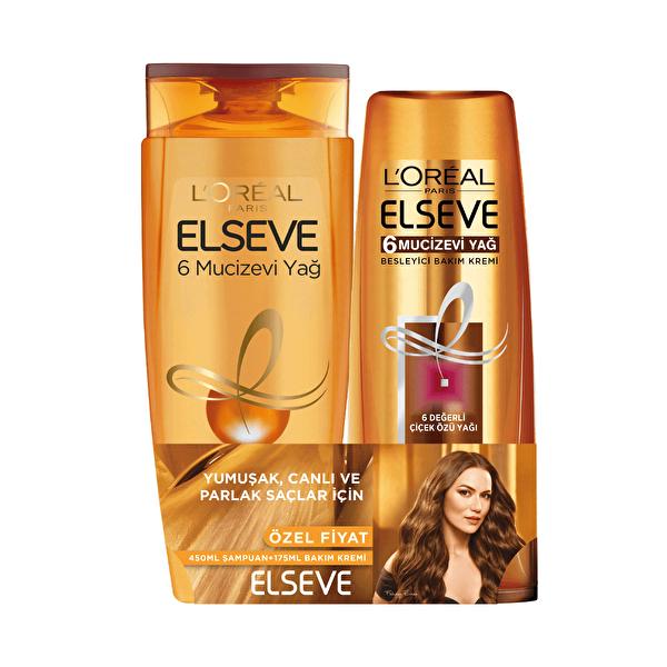 6 Mucizevi Yağ Şampuan 450 ml ve Saç Kremi 175 ml Seti