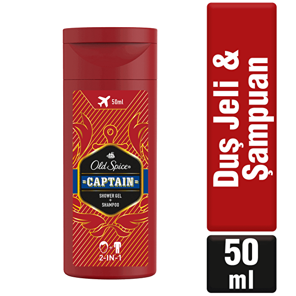 Duş Jeli ve Şampuan Captain 50 ml