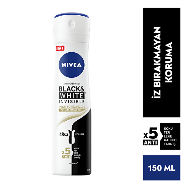 Black and White Invisible Kadın İpeksi Pürüzsüzlük Deodorant 150ml