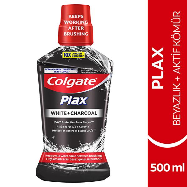 Plax Beyazlık Aktif Kömür Ağız Bakım Suyu Beyazlatıcı 500 ml
