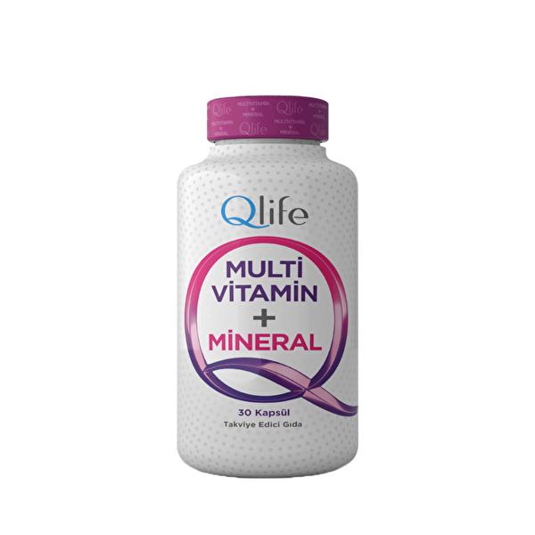 Multi Vitamin ve Mineral İçeren Kapsül Takviye Edici Gıda 30 Adet