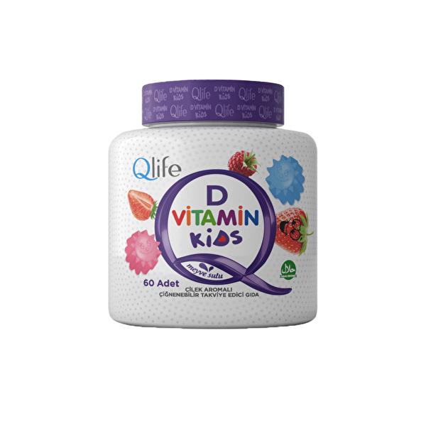 Kids D Vitamini Takviye Edici Gıda 60 Adet