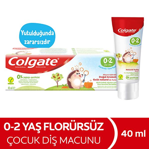 Çocuk Diş Macunu Meyve Aromalı 0-2 Yaş 40 ml