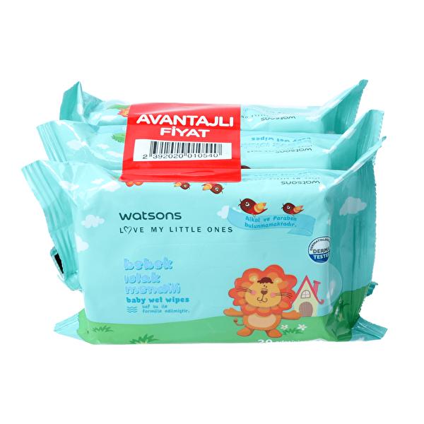 Bebek Islak Mendili 20 Adet 3 Paket Seti