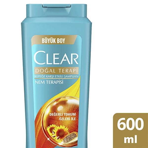 Şampuan Kepeğe Karşı Etkili & Nem Terapisi Doğal Terapi Değerli Tohum Özleri İle 600 ml