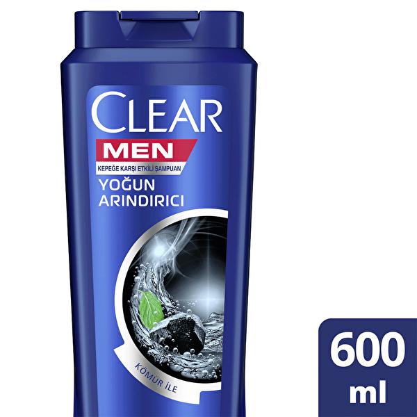 Erkekler İçin Şampuan Yoğun Arındırıcı Kömür Özlü Kepeğe Karşı Etkili 600 ml
